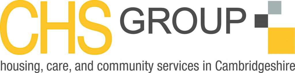CHS Group logo Text reads, CHS Groups logo, housing, care and community services in Cambridgeshire