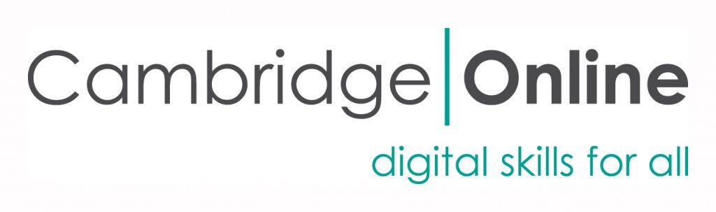 Cambridge Online logo text reads, Cambridge Online, digital skills for all